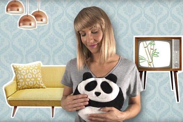 Cuscino termico a forma di panda: una coccola per ciclo, cervicale e mal di testa
